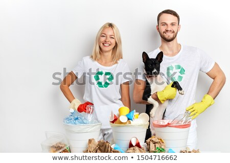 couple posing with recycling objects stock photo © is2