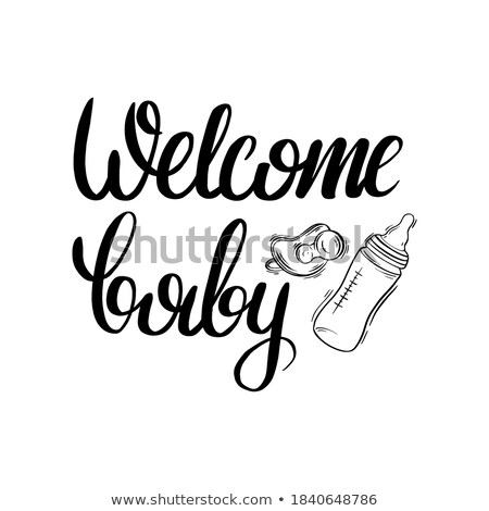 Bottle with Soother Poster Vector Illustration Stock photo © robuart