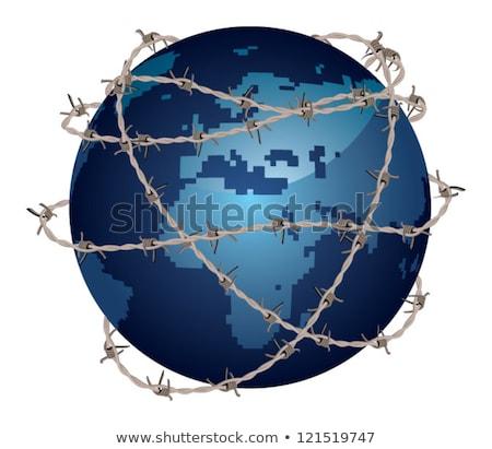 международных · терроризм · террористический · маске · ядерной - Сток-фото © studiostoks