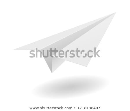 оригами самолет бумаги плоскости вектора символ Сток-фото © Macartur888