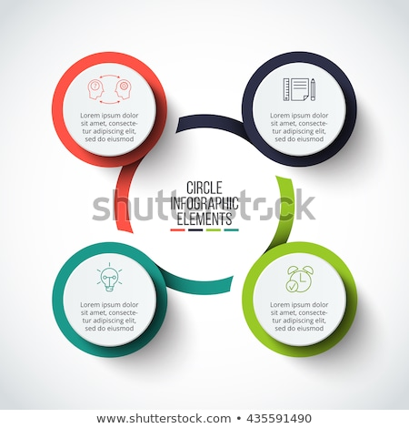 Vector infographic design template. Business concept with 4 options, parts, steps or processes. Can  Stock photo © kyryloff