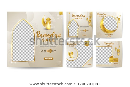 Eid mubarak Sale social media cover vector template design stock photo © SaqibStudio