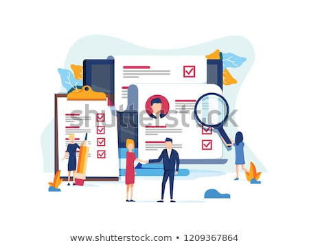 Searching the document or application concept. Human resources management concept, searching documen Stock photo © kyryloff