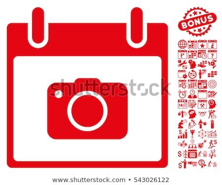 Kırmızı kamera beyaz dizayn moda film Stok fotoğraf © Vicasso