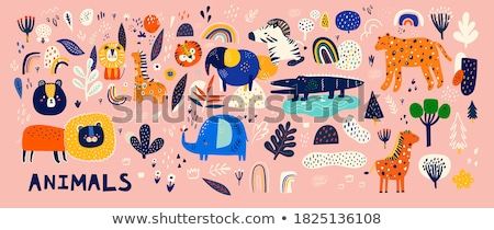 Tiger with rainbow colors Stock photo © Ustofre9
