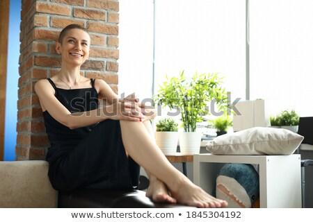 Hermosa esbelto elegante mujer pared Foto stock © Giulio_Fornasar