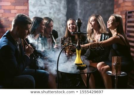 genç · kadın · boru · genç · nikotin · bağımlı · kadın - stok fotoğraf © vlad_star