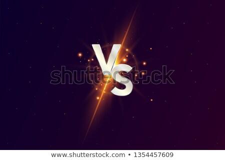 Neon Versus Logo. VS Vector Letters Illustration. Competition Icon. Fight Symbol Stock photo © olehsvetiukha