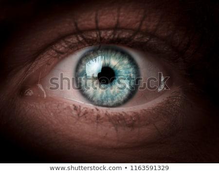 Peur femme oeil visage peau Photo stock © AndreyPopov