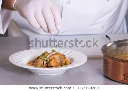 Geschoold vlees specerijen koekenpan stuk vers Stockfoto © dash