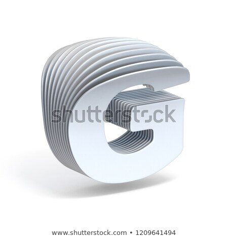 Curved paper sheets Letter G 3D Stock photo © djmilic