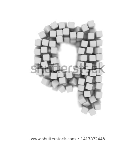White voxel cubes font Letter Q 3D Stock photo © djmilic