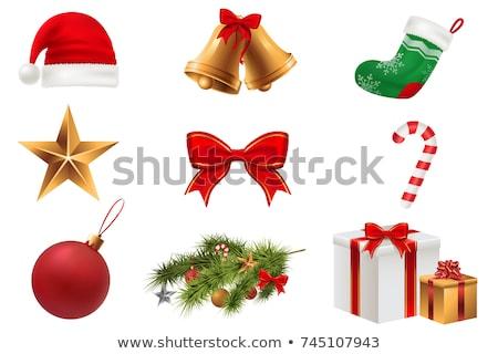 Ingesteld nieuwjaar christmas geïsoleerd witte vector Stockfoto © Lady-Luck