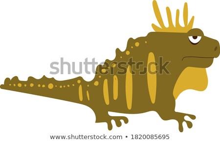 Desenho animado criatura entediado ilustração peixe olhando Foto stock © cthoman