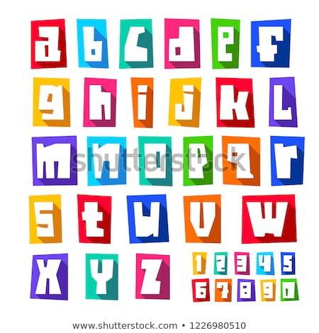новых · шрифт · Cut · красочный · письма · снизить - Сток-фото © ecelop