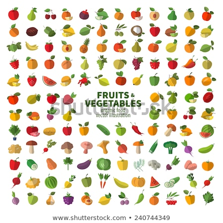 Preserved fruit and vegetables set vector icons Stock photo © robuart