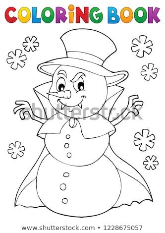 Vampiro boneco de neve imagem neve arte inverno Foto stock © clairev