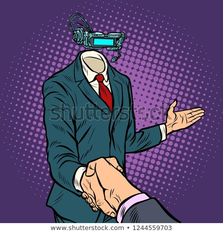 businessman shaking hands in virtual reality stock photo © studiostoks