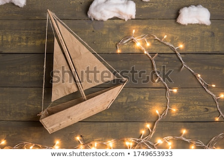 Christmas houten speelgoed opknoping Stockfoto © Lana_M