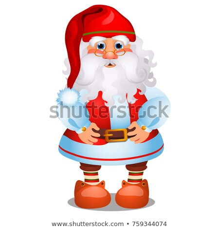 Animated Santa Claus in red Christmas costume isolated on white background. Sample of poster, party  Stock photo © Lady-Luck