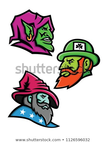 Goblin Leprecahun and Wizard Mascot Collection Stock photo © patrimonio