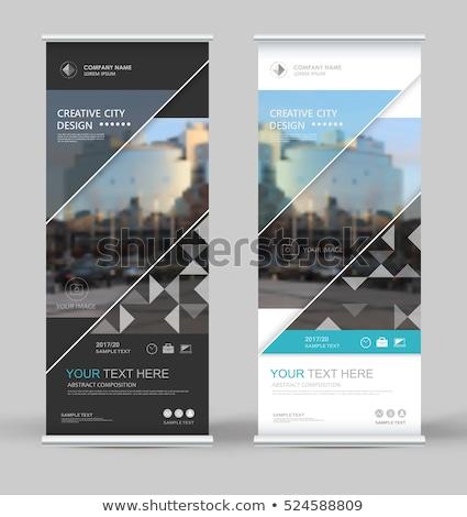 innovador · materiales · de · construcción · banner · edificio · ingenieros - foto stock © rastudio