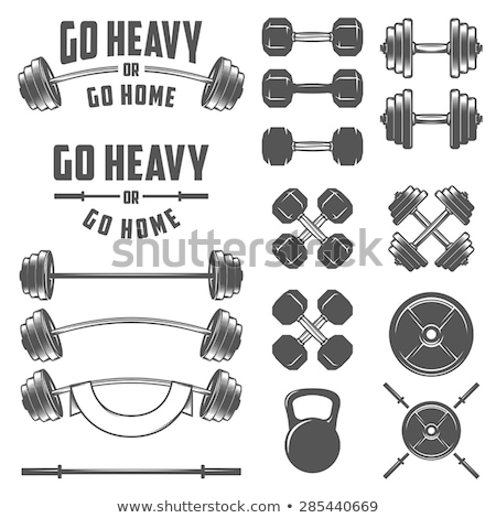 Gewichtheffer barbell voortvarend zwaar gewichtheffen bodybuilding Stockfoto © RAStudio