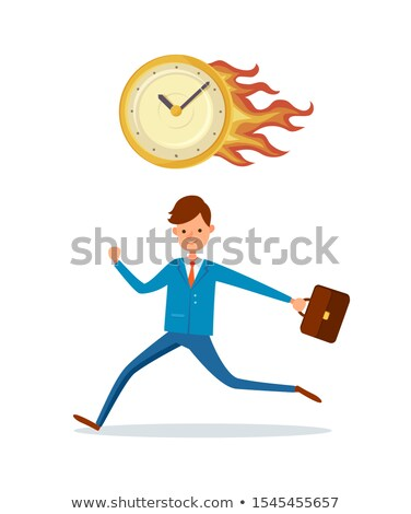 Deadline in Office, Burning Clock Hurrying Up Male Stock photo © robuart