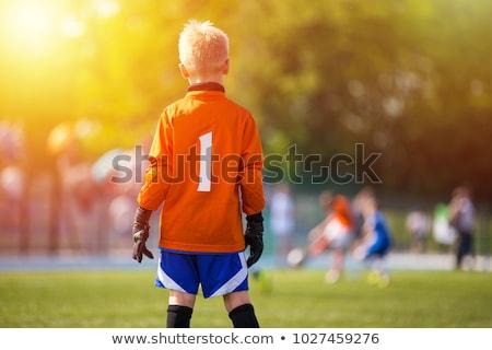 fiatal · futball · kapus · kapus · fiatal · srác · játék - stock fotó © matimix