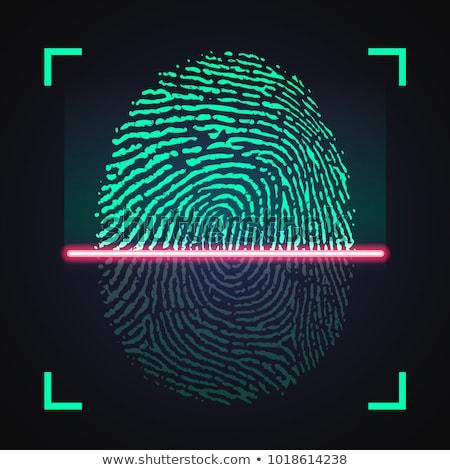 Laser vingerafdruk digitale veiligheid technologie vector Stockfoto © kyryloff