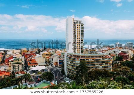 Vista altura ciudad costa tenerife Foto stock © vlad_star