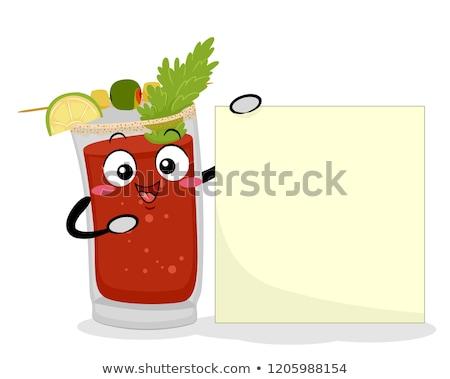Mascot Canada Caesar Drink Board Illustration Stock photo © lenm