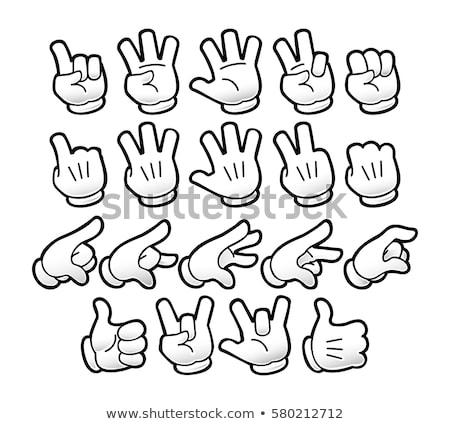 Thumbs Up Cartoon Glove Hand Stock photo © Krisdog