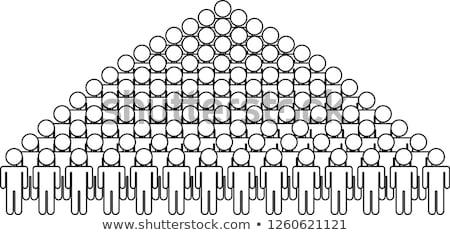 Equipes preto pessoa silhueta ícone Foto stock © Blue_daemon