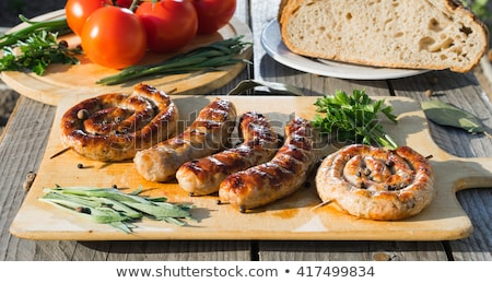 grillowany · kiełbasy · warzyw · selektywne · focus · żywności - zdjęcia stock © furmanphoto