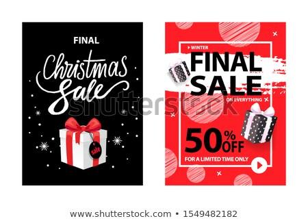 Finale christmas verkoop kerstmis vak prijs Stockfoto © robuart