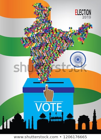 oy · Hint · seçim · dizayn · bayrak · ülke - stok fotoğraf © sarts