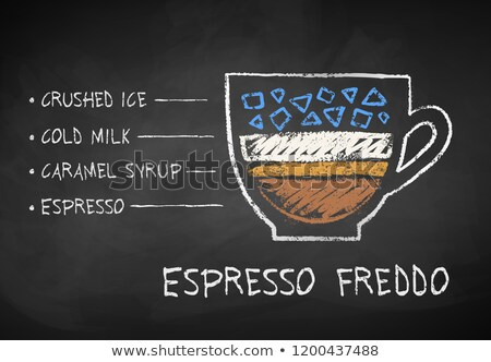 Chalk drawn sketch of Frappe coffee  Stock photo © Sonya_illustrations