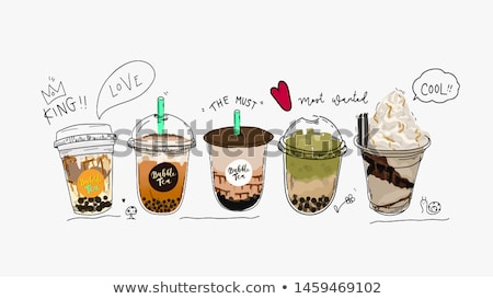 vector set of bubble milk tea Stock photo © olllikeballoon