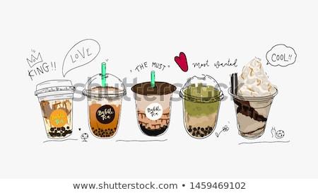 vector set of bubble milk tea foto stock © olllikeballoon