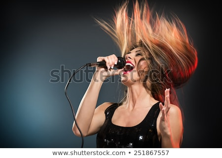 Woman Singer Standing on Stage Singing Performer Stock fotó © robuart