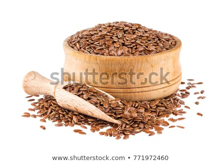 Flax seeds in white  bowl Stock photo © furmanphoto