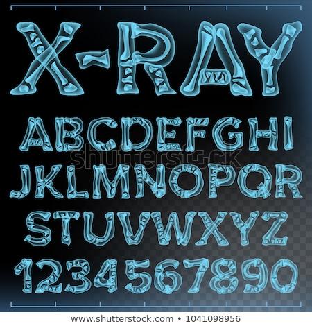 átlátszó röntgen i betű 3D 3d render illusztráció Stock fotó © djmilic