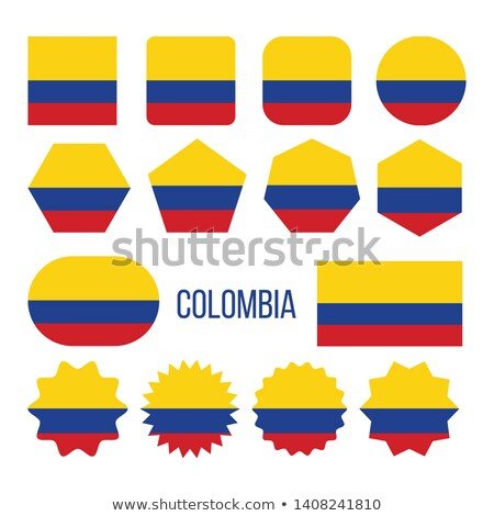 Colombia Flag Collection Figure Icons Set Vector Stock photo © pikepicture