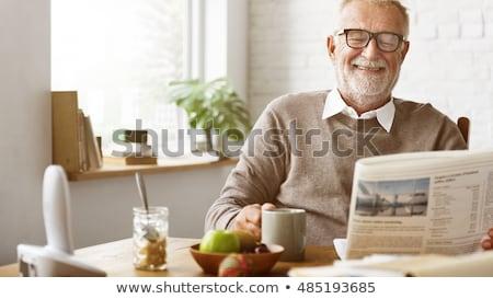 Lezing bejaardentehuis gehandicapten man Stockfoto © pressmaster