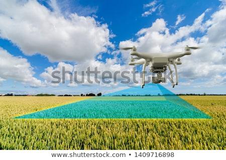 cielo · vuelo · cielo · azul · tecnología · avión · robot - foto stock © unkreatives