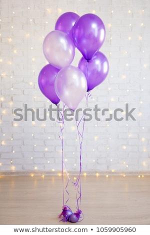 Strony balony biały kolorowy odizolowany urodziny Zdjęcia stock © creisinger