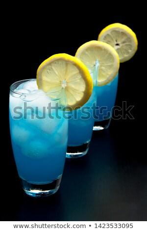 мнение синий напитки черный Сток-фото © dla4