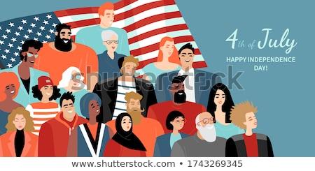 Negyedik diverzitás ünneplés amerikai nap ünnepel Stock fotó © Lightsource
