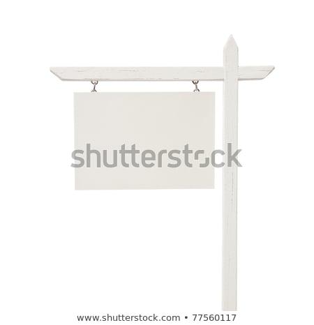 wykluczenie · sprzedaży · nieruchomości · podpisania · domu - zdjęcia stock © lightsource